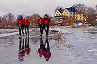 Oudste stad van Zweden met zeeën van ijs